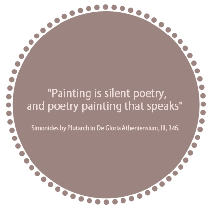 Painting Is silent Poetry, and Poetry painting that speaks